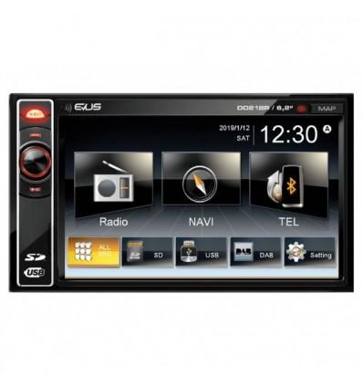 Radio-reproductor EVUS DD218R 2 DIN con display t
