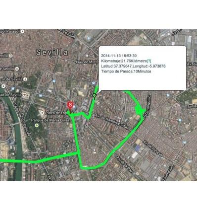 Plataforma de mapas para localizador GPS