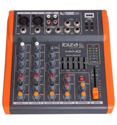 Mesa de mezclas de 4 canales extra compacta fonomovil for Mejores mesas de mezclas
