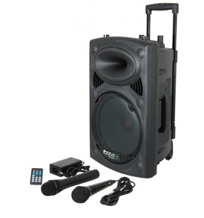 "8"" PORTABLE SET W/ VHF MIC/WIRED MIC/USB-SD/BT/VOX"