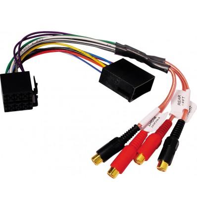 Convertidor conector ISO 4 altavoces a 4 RCA