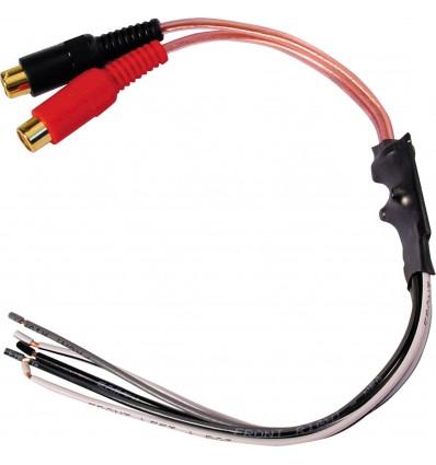 RCA Hembra Adaptador altavoz 2 canales
