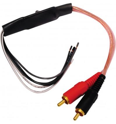 RCA Macho Adaptador altavoz 2 canales