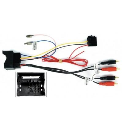 AUDI 06+ conector Fakra-RCA con amplificador ORIGE
