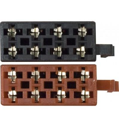 Conector Universal ISO macho terminales hembra 2 p