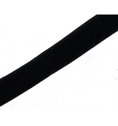 Velcro Negro Liso 20mm x 25m